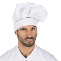 Gorro Chef  Blanco con Velcro  y Vivo 4486